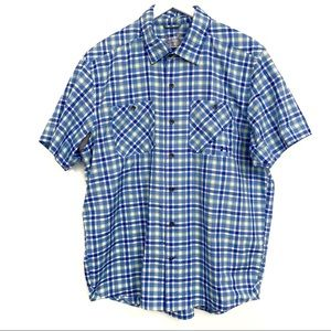 Under Armour Heat Gear Blue Plaid Polo Shirt